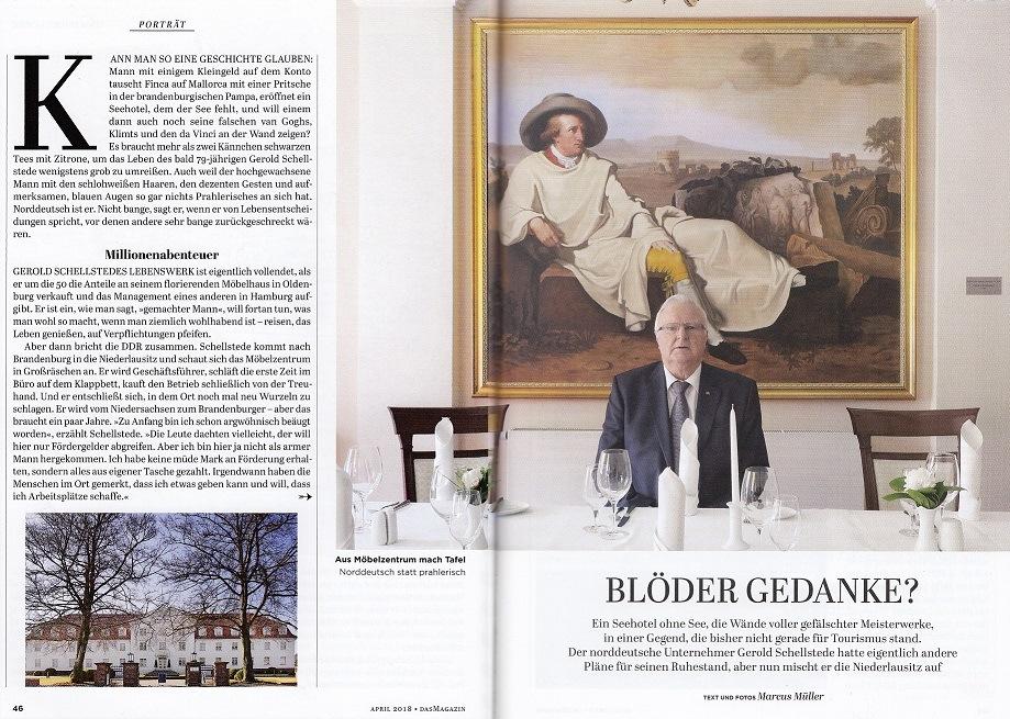 DAS MAGAZIN Blöder Gedanke Porträt Gerold Schellstede Großräschen| Text und Foto Marcus Müller © 2018